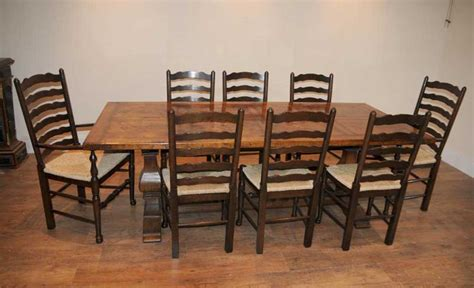 farm table dining set ladderback chair refectory table kitchen dining set farmhouse