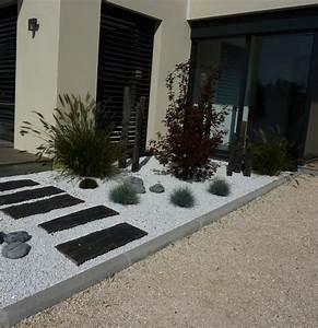 allee maison ardoise tous droits reserves paysages With amenagement exterieur jardin moderne 5 brise vue aluminium moderne jardin angers par