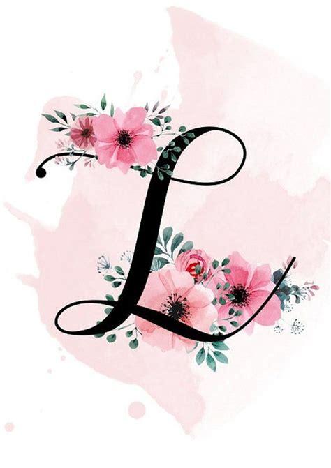 personalized letter print printable  monogram print etsy flower letters lettering