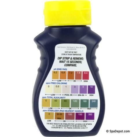 aquachek yellow chlorine    spa test strips spadepotcom