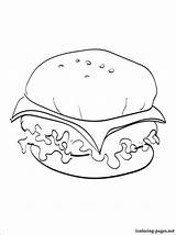 Cheeseburger Coloring Pages Drawing Printable Line Getdrawings Penciling Eat Those Children sketch template