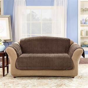 Sure fit sofa sure fit stretch pique one piece thesofa for Recliner sectional sofa slipcovers