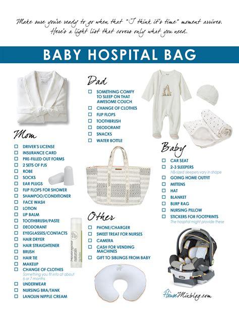 Baby Hospital Bag Checklist House Mix