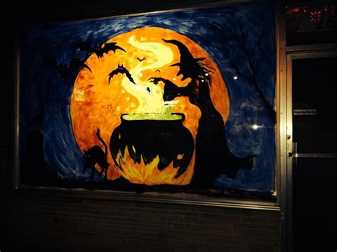 halloween witch window painting preschool craftsart