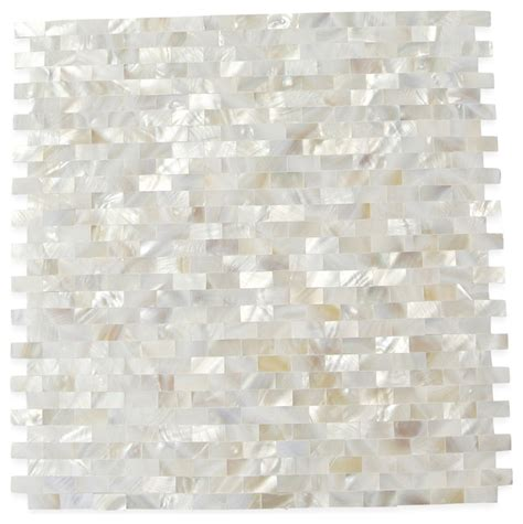 Of Pearl Subway Tile Uk by Serene Pearls Glass Tile Sheet Contemporary Tile By