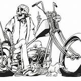 Chopper Drawing Motorcycle Motorcycles Choppers Bike Custom Getdrawings sketch template