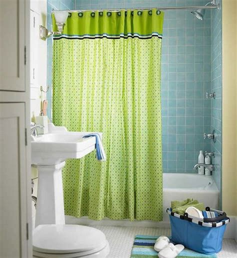 orange and brown curtains lime green accents curtain for small bathroom design