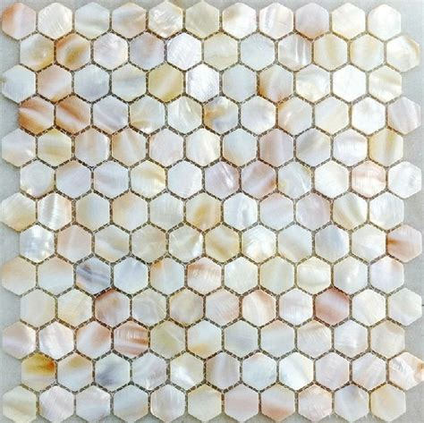 Pearl Mosaic Bathroom Tiles by Of Pearl Kitchen Backsplash Tile Mop063 Hexagon