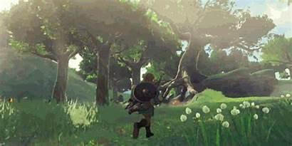 Breath Wild Zelda Legend Gifs Running Open