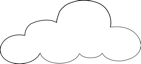 cloud template cloud coloring page clipart best