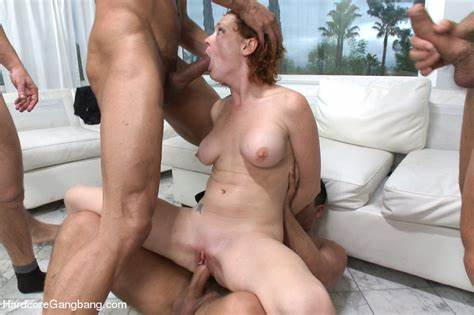 Redheaded Girlfriend Plays With Both Of Her Holes