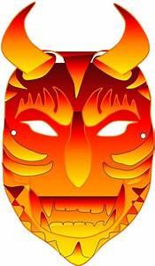 Masque Halloween A Fabriquer : masque pour halloween le diable en personne trucs et deco ~ Melissatoandfro.com Idées de Décoration