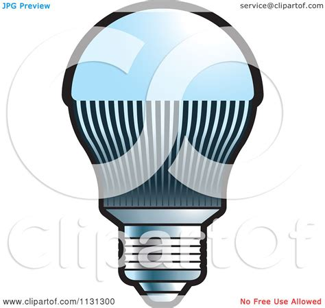 clipart of a led light bulb royalty free vector