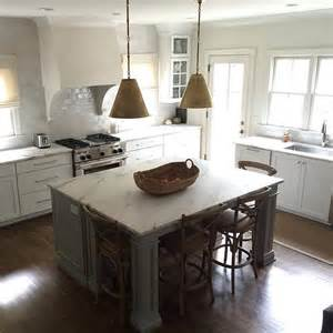 gray kitchen island gray kitchen island with gold pendants transitional kitchen