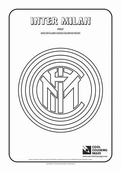 Coloring Inter Pages Milan Soccer Logos Cool