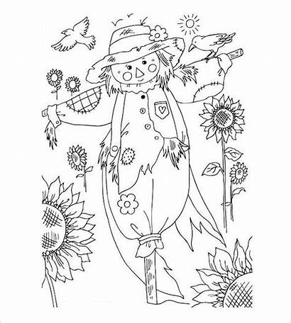 Coloring Autumn Pages Pdf Fall Colouring Word