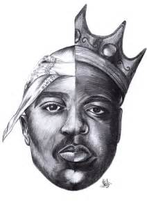 Tupac and Biggie Smalls Drawing