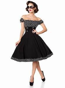 Robe Retro Année 50 : robe pin up ann es 50 rockabilly vintage belsira bella ~ Nature-et-papiers.com Idées de Décoration
