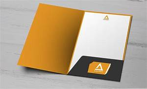 pocket folders with business card holder business card With printed document folder