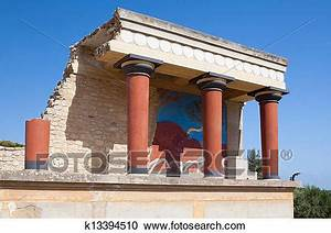 Stock Photography of Knossos palace at Crete, Greece ...