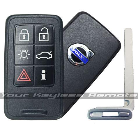 remote smart prox key  volvo keyless fob  button uncut