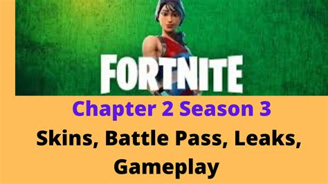 fortnite chapter  season  skins battle pass leaks