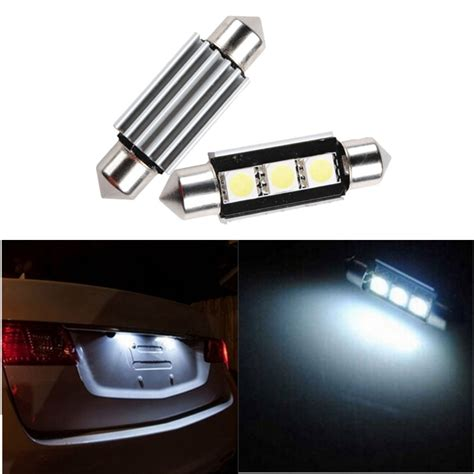 best car lights 36mm 3 5050 smd led festoon light canbus