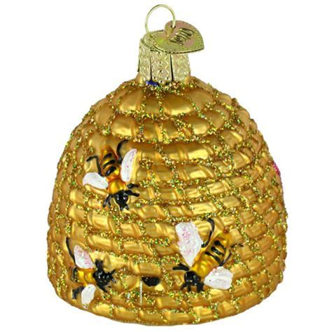 Woven Beehive Basket Ornament for Christmas Tree, Set of 3