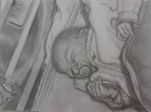 Kunst Zeichnungen Bleistift : bild baby bleistiftzeichnung zeichnung zeichnungen von t l bei kunstnet ~ Yasmunasinghe.com Haus und Dekorationen