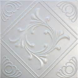 r2w white decorative styrofoam glue up ceiling tiles 20x20