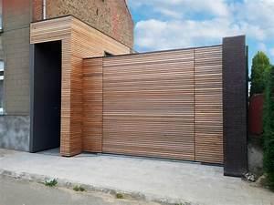 Porte De Garage Bois : porte de garage affleurante bois smf services ~ Melissatoandfro.com Idées de Décoration