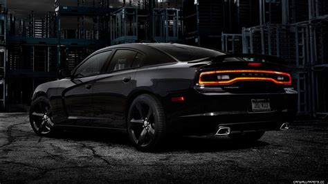 Black Dodge Charger Wallpaper