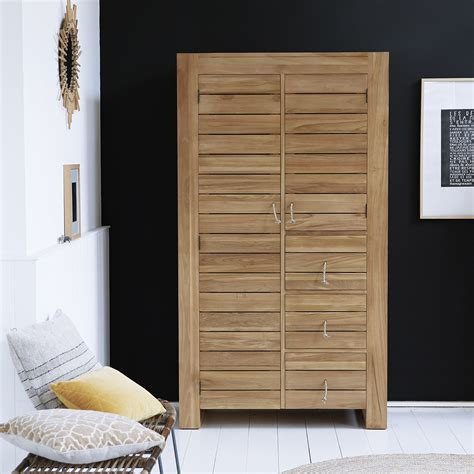 chambre en teck armoire en teck armoire en bois massif minimalys