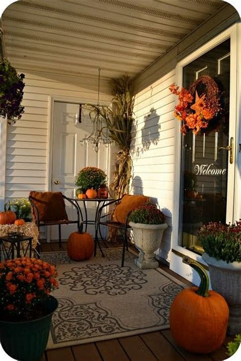 Fall Front Porch Decorating Ideas by Deck Decorating Ideas