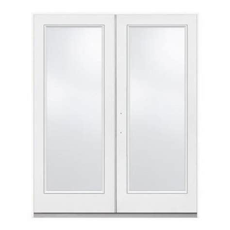 72 in x 80 in white right hand french 1 lite patio door