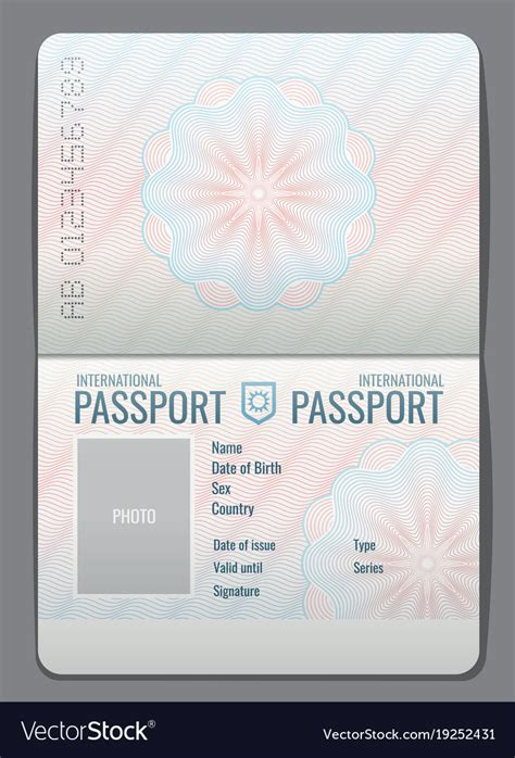 Passport Template Passport Template Beautiful Template Design Ideas