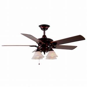Harbor breeze ceiling fan light kit lowes : Harbor breeze bellhaven in rustic bronze downrod