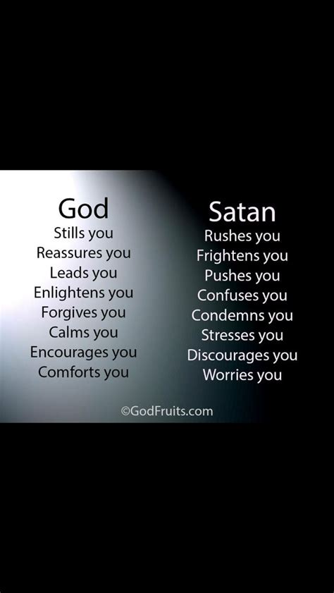 God Vs Satan Wise Quotes Inspirational Words Prayer Quotes