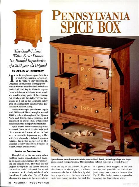 Spice Rack Woodworking Plans by Pennsylvania Spice Box Plans Spice Rack Plans In 2019