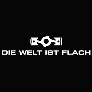 Die Welt Ist Flach  The World Is Flat  Decal  Blipshift