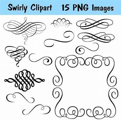 Swirls Calligraphy Clip Swirl Flourishes Flourish Clipart
