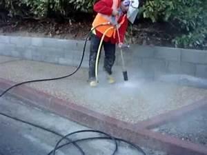 Comment Faire Du Beton : rattrapage d 39 un beton decapage de b ton d sactiv youtube ~ Melissatoandfro.com Idées de Décoration
