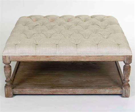 DIY Padded Ottoman Coffee Table Modern Wood Coffee Table Mid Century Round Natural Diy Padded