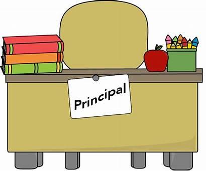 Principal Administration Desk Clipart Elementary Wilson Woodrow