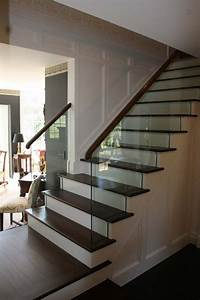 My stair railing design using glass to plement