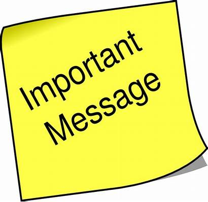 Message Note Important Clip Clipart Please Attention