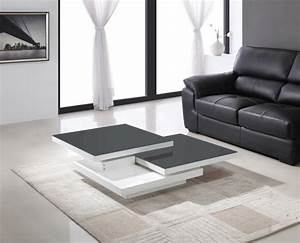 Table Basse Grise Pas Cher : table basse grise et blanche design en image ~ Teatrodelosmanantiales.com Idées de Décoration