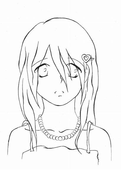 Sad Crying Anime Drawing Boy Coloring Pages