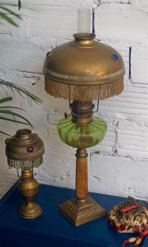 oil lamp art nouveau retro lamp desk carved