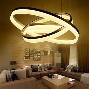 pas cher moderne led salon salle a manger lampes With salle a manger led